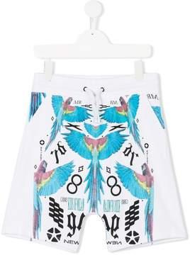 Marcelo Burlon County of Milan Kids macaw print casual shorts