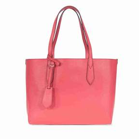 Burberry Small Reversible Tote in Haymarket Check - Coral Red - ONE COLOR - STYLE