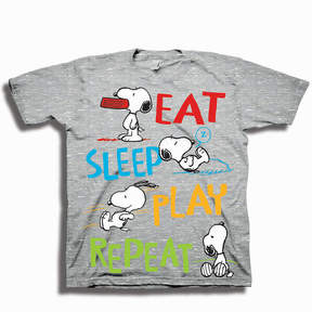 Freeze Toddler Boys S/S Peanuts Eat Sleep Play Repeat Graphic T-Shirt