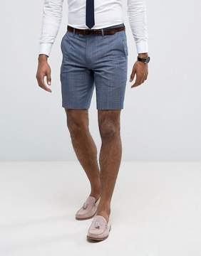 Farah Skinny Smart Shorts In Check