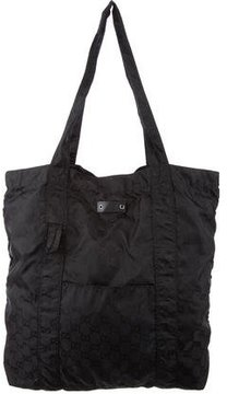 Gucci GG Nylon Packable Tote - BLACK - STYLE