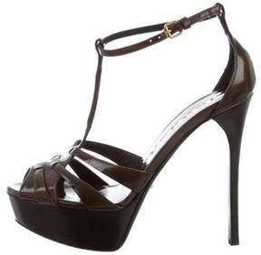 Burberry Platform T-Strap Sandals
