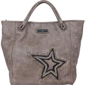 Nicole Lee Brona Glitz Star Patch Tote Bag (Women's)