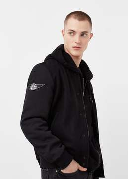 Mango Outlet Decorative patches varsity jacket