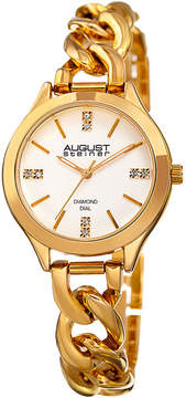 August Steiner Womens Gold Tone Strap Watch-As-8222yg