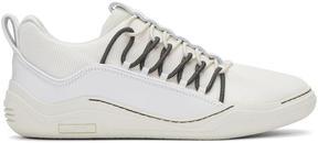 Lanvin White Diving Elastic Sneakers