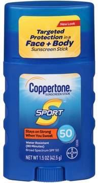 Coppertone Sport Sunscreen Stick - SPF 50 - 1.5oz