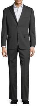 Hickey Freeman Pinstripe Wool Suit