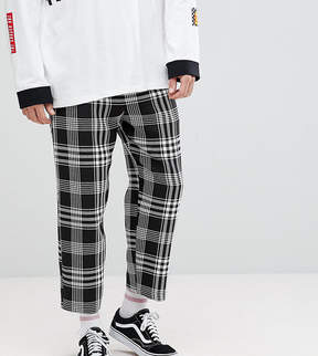 Reclaimed Vintage Inspired Relaxed Fit PANTS In Black Check