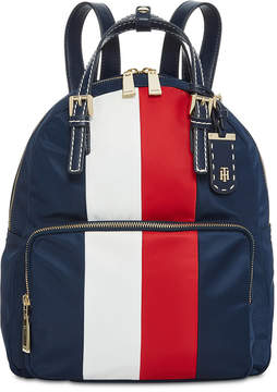 Tommy Hilfiger Double-Handle Striped Backpack