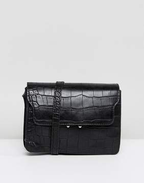 Pieces Croc Effect Cross Body Bag