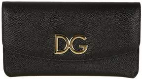Dolce & Gabbana Textured Continental Wallet - PINK - STYLE