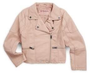 Urban Republic Little Girl's Asymmetrical Zip-Front Jacket