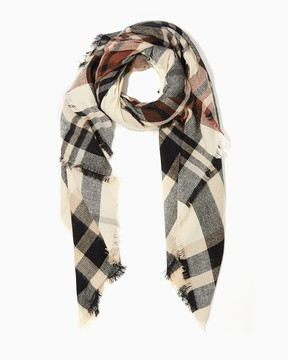 Charming charlie Perfectly Plaid Blanket Scarf