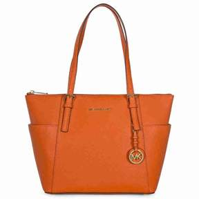 Michael Kors MICHAEL Jet Set Medium Top-Zip Tote - ORANGE - STYLE