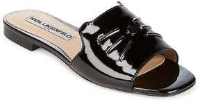 Karl Lagerfeld Paris Women's Raven Patent Leather Whisker Slides
