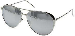 Linda Farrow Luxe LFL425C2SUN White Gold & Platinum Aviator Sunglasses