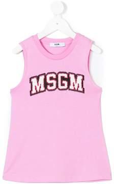 MSGM logo patch vest top