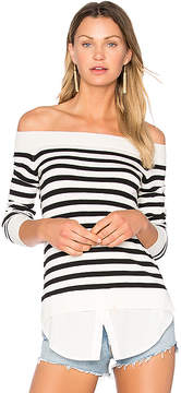 Central Park West Santa Cruz Off Shoulder Sweater
