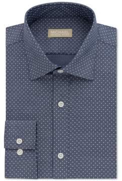 Michael Kors Non Iron Button Up Dress Shirt Blue 18 1/2