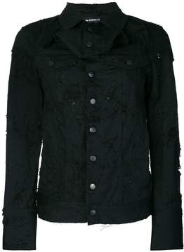 Ann Demeulemeester distressed denim jacket
