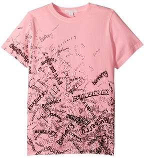 Burberry Rea Scribble Tee Girl's Clothing
