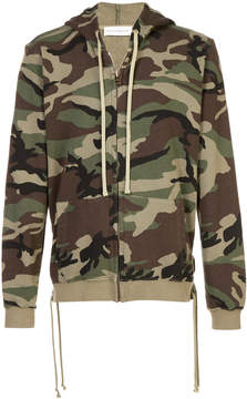 Faith Connexion camouflage print zipped hoodie
