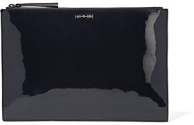 McQ Alexander McQueen Leather-Trimmed Vinyl And Felt Clutch