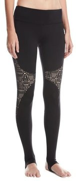 Alo Yoga West Coast Laser-Cut Performance Leggings, Black