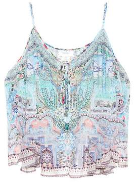 Camilla Embellished silk tank top
