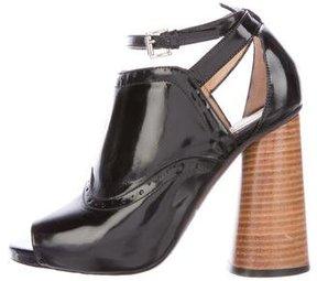 Carven Leather Brogue-Trimmed Sandals