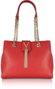 Mario Valentino Valentino By Lizard Embossed Eco Leather Divina Shoulder Bag w/Chain Straps