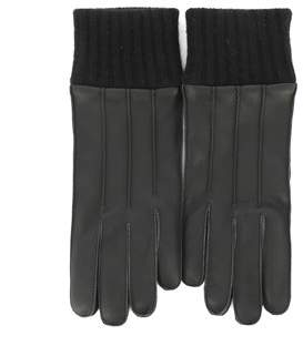 Salvatore Ferragamo Men's Black Leather Gloves.