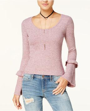 American Rag Juniors' Ruffled Bell-Sleeve Sweater, Created for Macy's