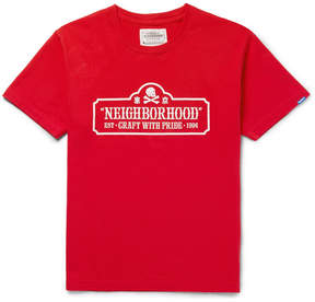 Neighborhood Slim-Fit Printed Cotton-Jersey T-Shirt