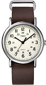 Timex Unisex Weekender Brown Slip Through StrapWatch