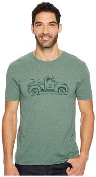 Life is Good Vintage Truck Bike Cool Tee Men's Short Sleeve Pullover