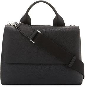 Steven Alan Riley Pebbled Flap Satchel Bag, Black