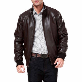 Asstd National Brand Wwii Lambskin Leather Leather Bomber Jacket Tall