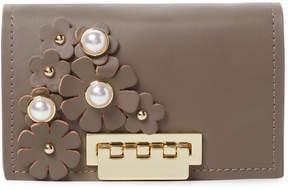 Zac Posen Women's Earthette Floral Applique Wallet On Chain