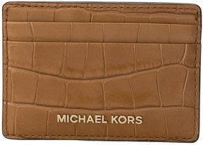MICHAEL Michael Kors crocodile effect cardholder - BROWN - STYLE