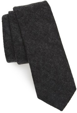 1901 Men's Bowery Solid Cotton Blend Skinny Tie