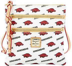 Dooney & Bourke As Is NCAA University of Arkansas Zip Crossbody - ONE COLOR - STYLE