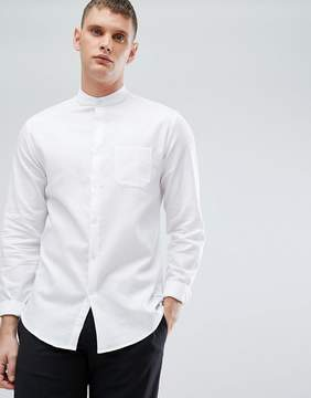 Lindbergh Smart Shirt with Grandard Collar in White