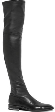 Givenchy Chain-trimmed Over-the-knee Boots In Black Stretch-leather