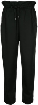 EN ROUTE drawstring straight leg trousers