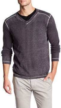 Autumn Cashmere Inked Thermal V-Neck Shirt