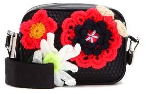 Christopher Kane Box crochet-embellished leather crossbody bag
