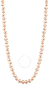 Bella Pearl Single Strand Peach Freshwater Pearl 18 Necklace