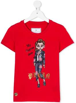 Philipp Plein Junior My Fashion Show diamante T-shirt